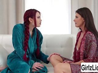 redhead teen sabina rouge enjoys having fun with india summer