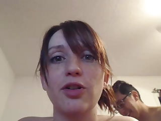 super cute face with wondrous enormous hooters poking & sucking #2
